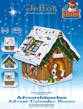 advent calendar house for dogs in organic quality