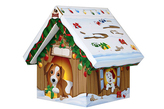 advent calendar house for dogs in organic quality 3D view